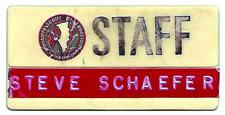 Steve Schaefer Staff Tag